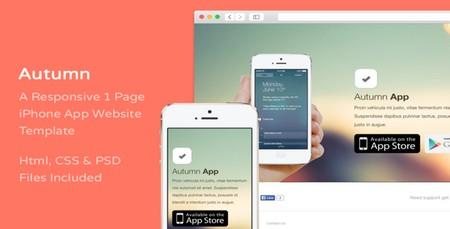 دانلود قالب HTML صفحه دانلود App گوشی موبایل Autumn