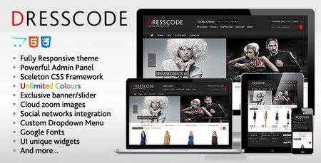 دانلود قالب فروشگاهی Dresscode برای اپن کارت