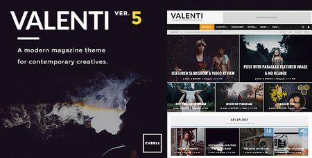 دانلود پوسته مجله ای Valenti برای وردپرس نسخه 5.1.2