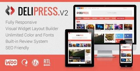 دانلود قالب مجله خبری برای وردپرس Delipress v2.5.1