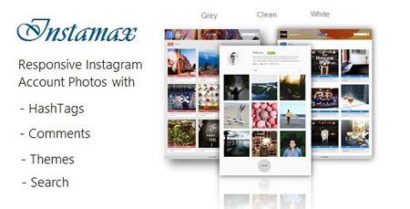 اسکریپت نمایش آخرین تصاویر اینستاگرام در وب سایت InstaMax v4.1