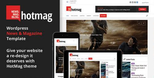 دانلود قالب مجله خبری هات مگ برای وردپرس HotMag v1.2