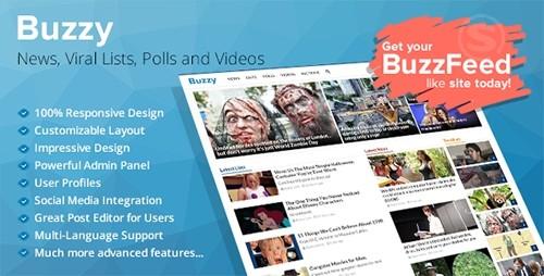دانلود اسکریپت راه اندازی پرتال خبری Buzzy v1.3.2