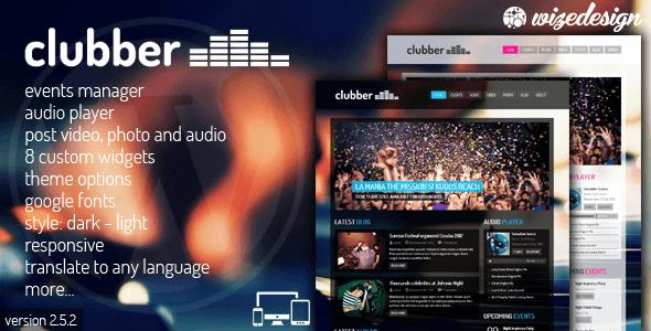 دانلود قالب موزیک برای وردپرس Clubber v2.6.1