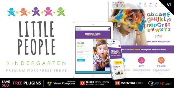 دانلود قالب مهد کودک برای وردپرس Little People v1.1.3