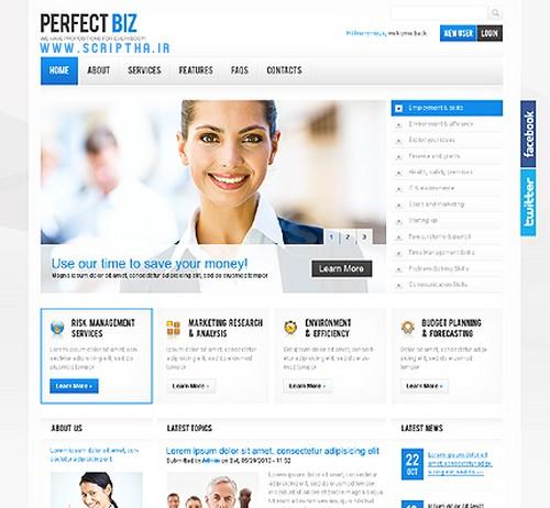 دانلود قالب شرکتی برای دروپال 7 Perfect Biz