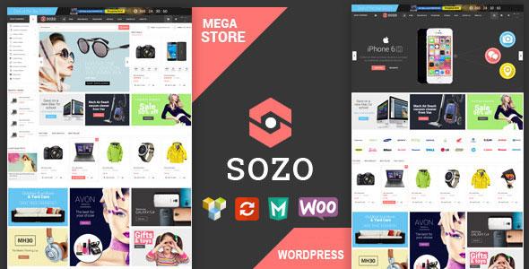 دانلود قالب فروشگاهی تمام صفحه برای ووکامرس SOZO v1.0