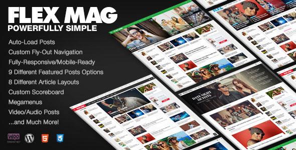 دانلود قالب مجله خبری برای وردپرس Flex Mag v1.10