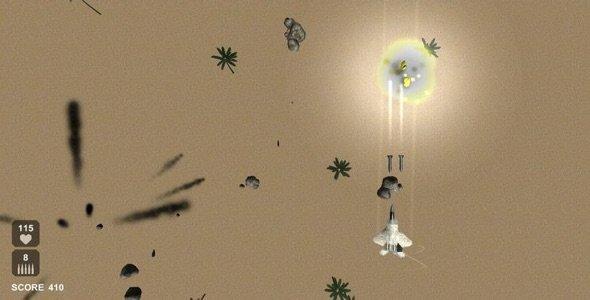 دانلود سورس اندروید بازی جت جنگنده 3 بعدی Raptor Combat v1.1