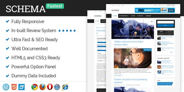 دانلود قالب وبلاگی با سئوی بالا برای وردپرس Schema v3.1.2