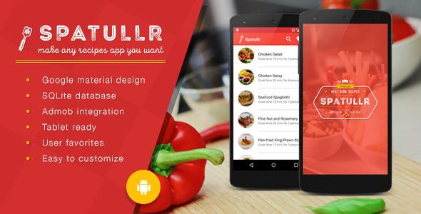 دانلود سورس اندروید برنامه آموزش آشپزی Spatullr v3.0.3