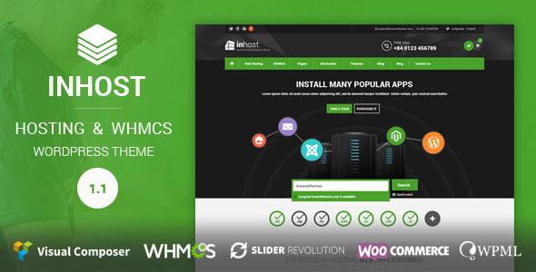 دانلود قالب هاستینگ و سرور میزبانی برای WHMCS و وردپرس InHost v3.5.2