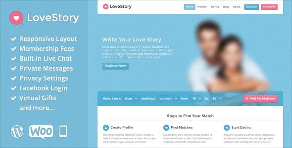 دانلود قالب همسریابی برای وردپرس LoveStory v1.17