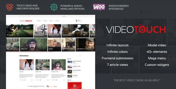 دانلود قالب ریسپانسیو اشتراک ویدئو برای وردپرس VideoTouch v1.8.1