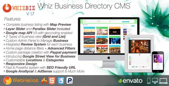 دانلود اسکریپت دایرکتوری کسب و کار WhizBiz v1.7