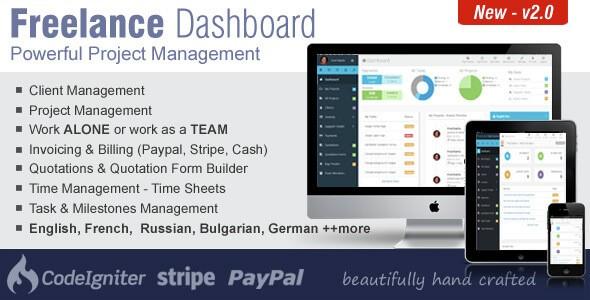 دانلود اسکریپت مدیریت پروژه Freelance Dashboard