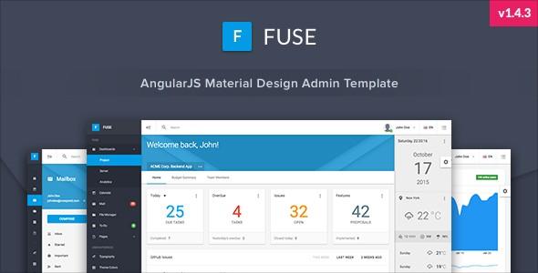 دانلود قالب پنل مدیریت آماده Fuse v1.4.3