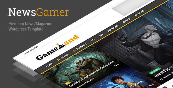 دانلود قالب مجله بازی های رایانه ای برای وردپرس NewsGamer v1.7