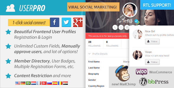 دانلود افزونه فارسی یوزر پرو برای وردپرس UserPro v4.0