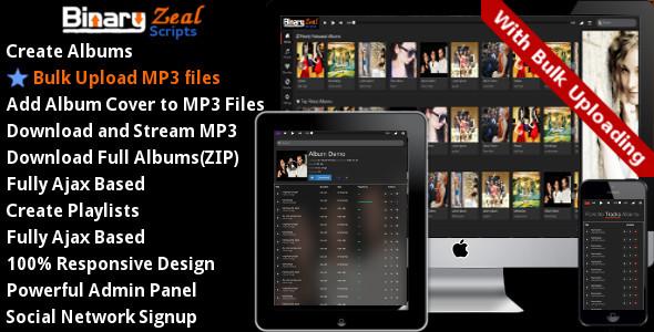 دانلود اسکریپت ایجاد گالری موزیک MP3 Gallery Script