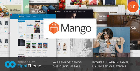 دانلود قالب فروشگاهی و تجاری ووکامرس Mango v2.0.7