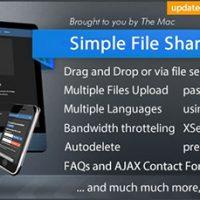 اسکریپت اشتراک گذاری فایل Simple File Sharer