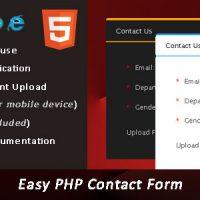 اسکریپت PHP فرم تماس باما Easy PHP Contact Form Script