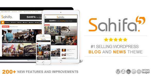 دانلود قالب صحیفه Sahifa نسخه 5.5.1 برای وردپرس