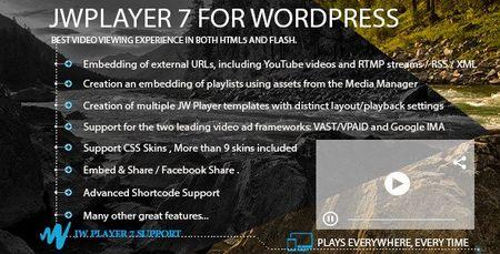 افزونه ویدیو پلیر JWPlayer 7 برای وردپرس