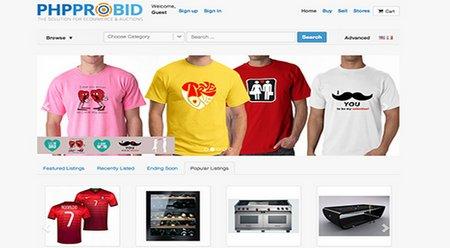 اسکریپت حراجی و مزایده آنلاین PHP Pro Bid نسخه 7.3
