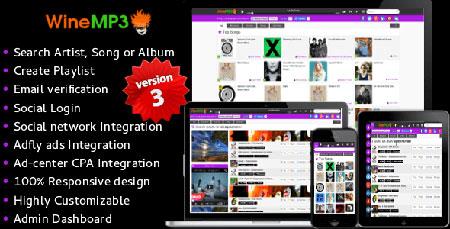 اسکریپت موتور جستجوی موسیقی WineMP3 نسخه 3.0