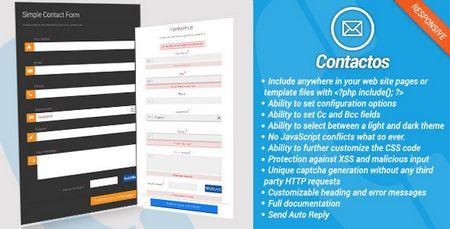اسکریپت فرم تماس با ما Contactos v1.01