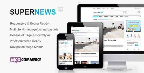 قالب مجله خبری سوپر نیوز برای وردپرس Supernews v1.0.2