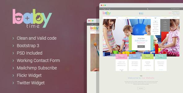 دانلود قالب کودکان به صورت HTML نال شده BabyTime