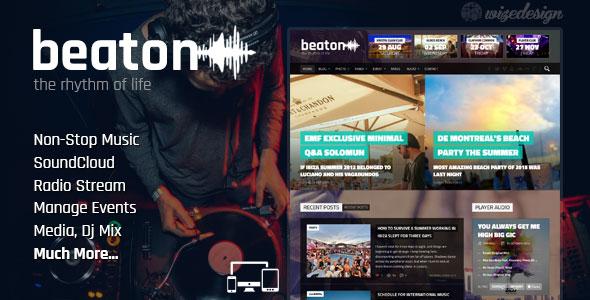 دانلود قالب موزیک و رادیو برای وردپرس Beaton v1.4.1