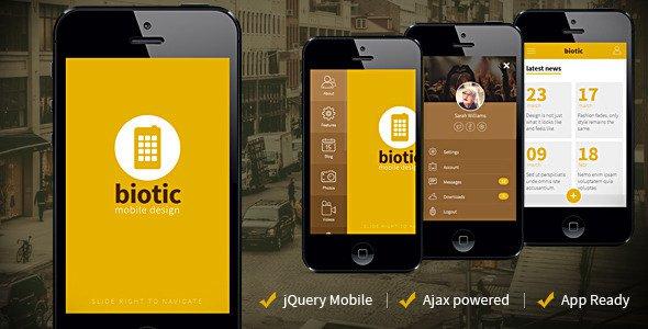 دانلود قالب مخصوص موبایل و تبلت Biotic v1.1