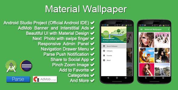 دانلود سورس اندروید ارائه والپیپر تصاویر پس زمینه Material Wallpaper v1.2.0