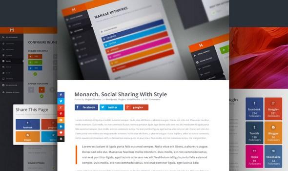 دانلود افزونه اشتراک گذاری مطالب در شبکه های اجتماعی Monarch v1.3.1