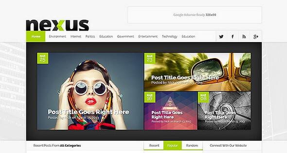 دانلود قالب مجله ای برای وردپرس Nexus v1.7.6