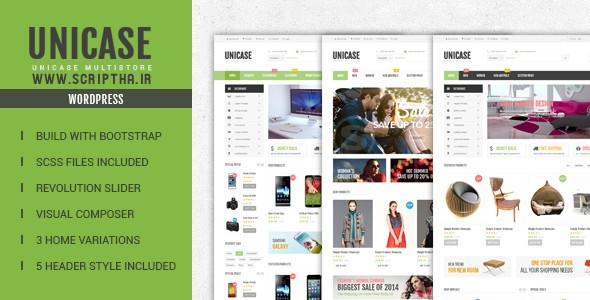 دانلود قالب فروشگاهی ووکامرس Unicase v1.2.1