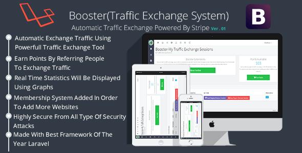 دانلود اسکریپت افزایش بازدید Booster Traffic Exchange System