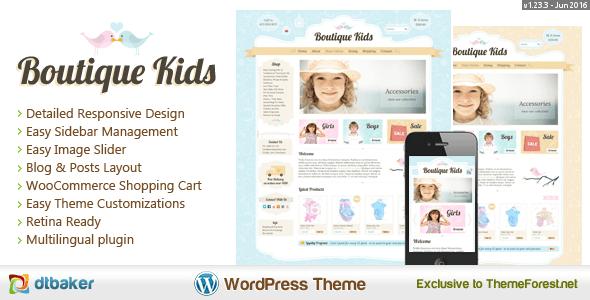 دانلود قالب فروشگاهی محصولات کودکان برای ووکامرس Boutique Kids v1.23.2