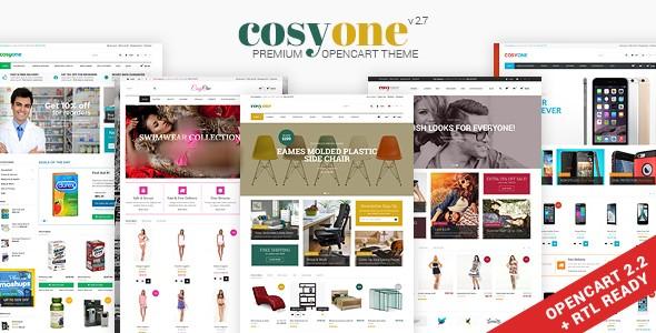 دانلود قالب اپن کارت به صورت رایگان CosyOne v2.7