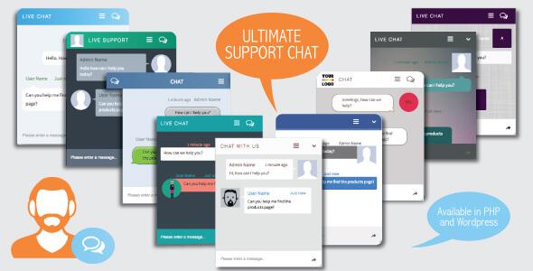 دانلود اسکریپت پشتیبانی و گفتگوی زنده Ultimate Support Chat
