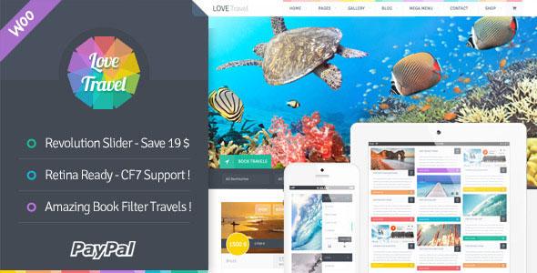دانلود قالب آژانس مسافرتی و گردشگری برای وردپرس Love Travel v2.6.1