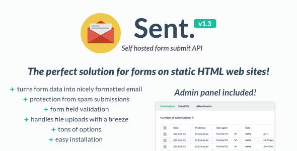 دانلود اسکریپت راه اندازی سیستم تماس با ما  Sent v1.3