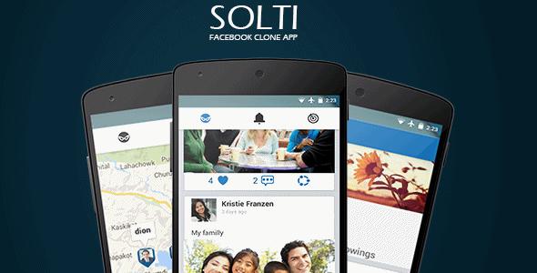 دانلود سورس اندروید شبکه اجتماعی مانند فیس بوک Solti v1.0