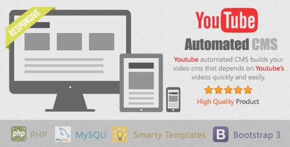 دانلود اسکریپت دریافت خودکار ویدیو های یوتیوب YouTube Automated CMS v1.0.7