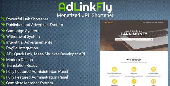 دانلود اسکریپت کوتاه کننده لینک AdLinkFly v2.5.1