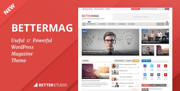 دانلود قالب مجله خبری برای وردپرس BetterMag v2.7.0